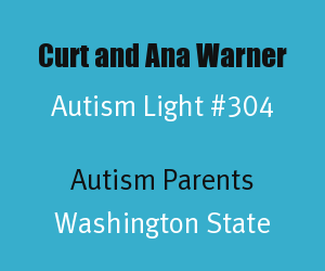 Article Header for Curt and Ana Warner Autism Light Number 304