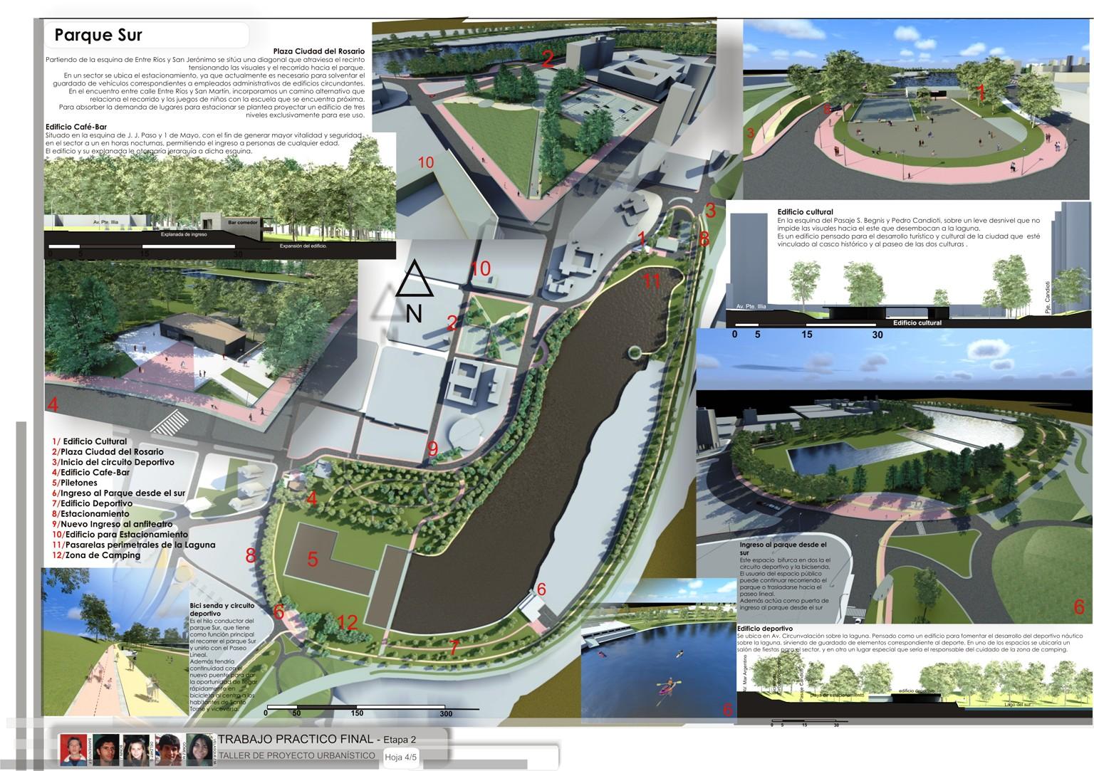 Proyecto urbano en la ciudad de santa fe 3d render para for Equipamiento urbano arquitectura pdf