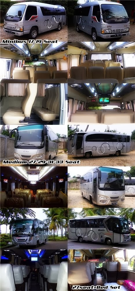 News !!! Bus Pariwisata Muria Trans Deluxe 17, 19, 27+Bed Set, 29, 31, 33 Seat