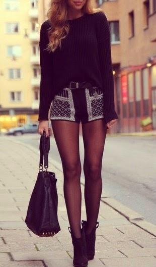 Oversized Black Knit Sweater
