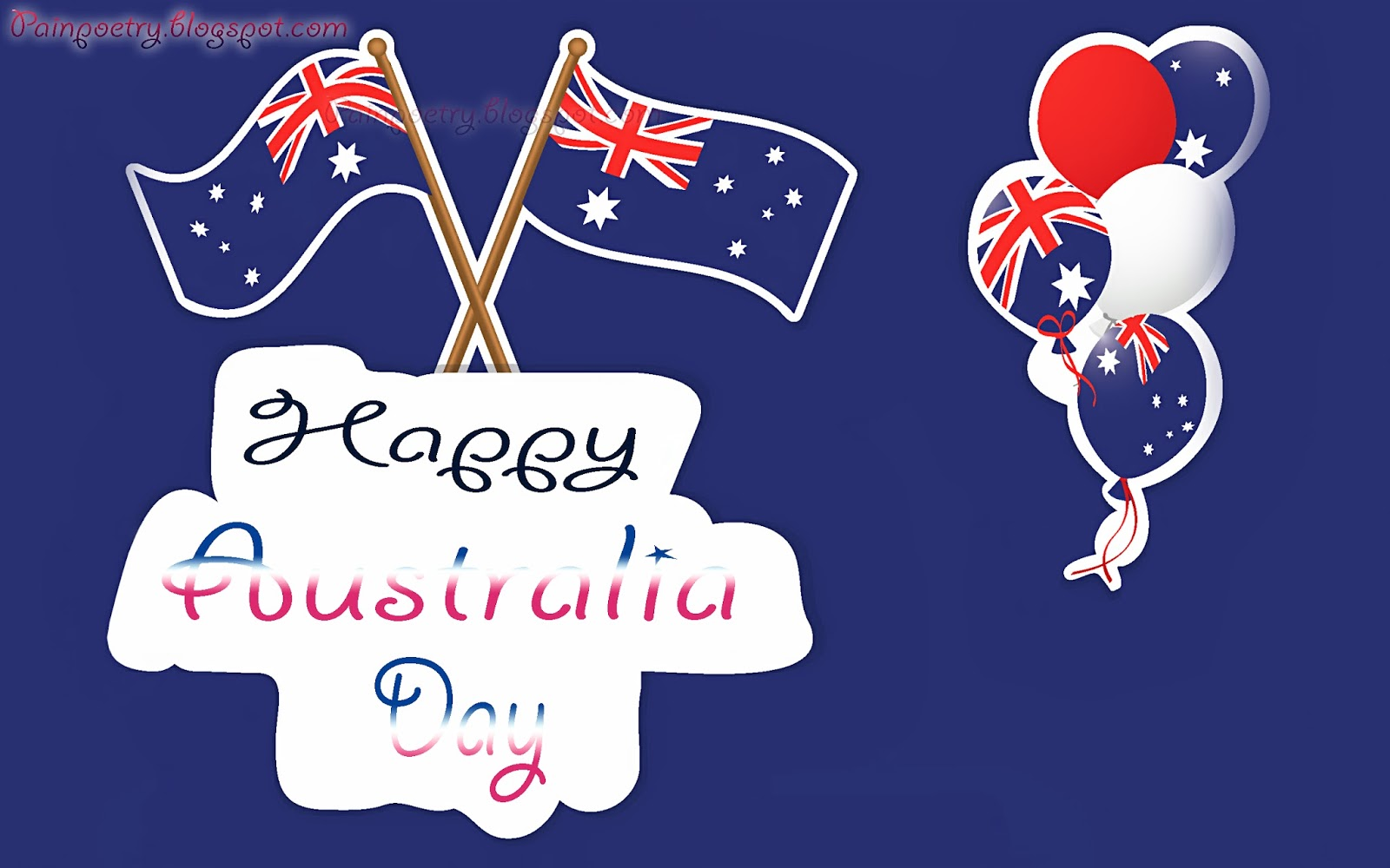 Happy-Australia-Day-Wishes-Walpaper-With-Two-Flag-Image-HD