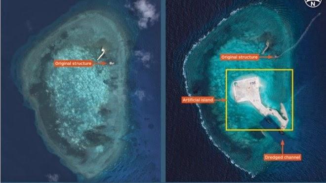 """Hình ảnh đá Gaven ngày 18 tháng 7 năm 2014 trên mạng """"Quan sát"""" Trung Quốc ngày 30 tháng 8 năm 2014"""