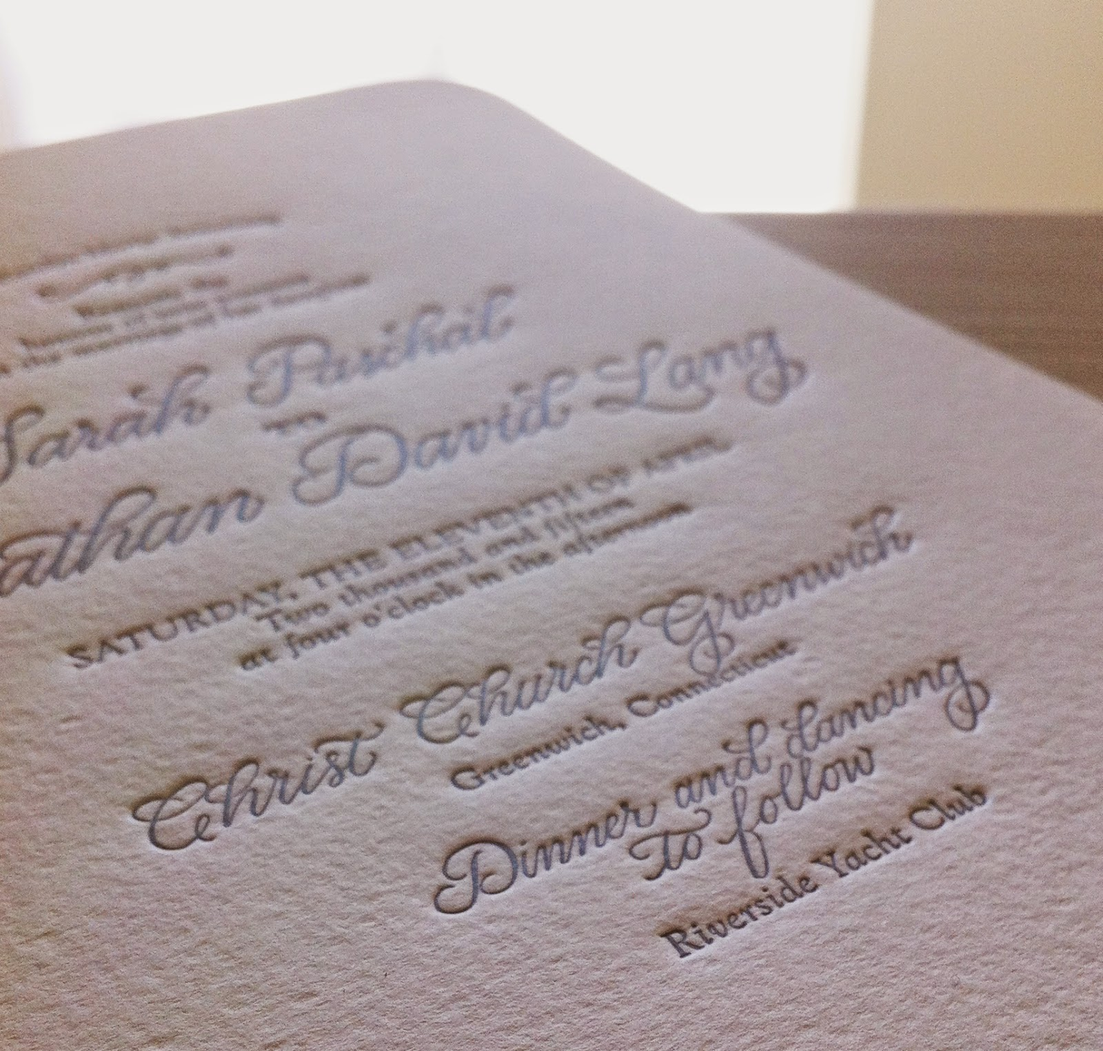 letterpress calligraphy wedding invitation suite