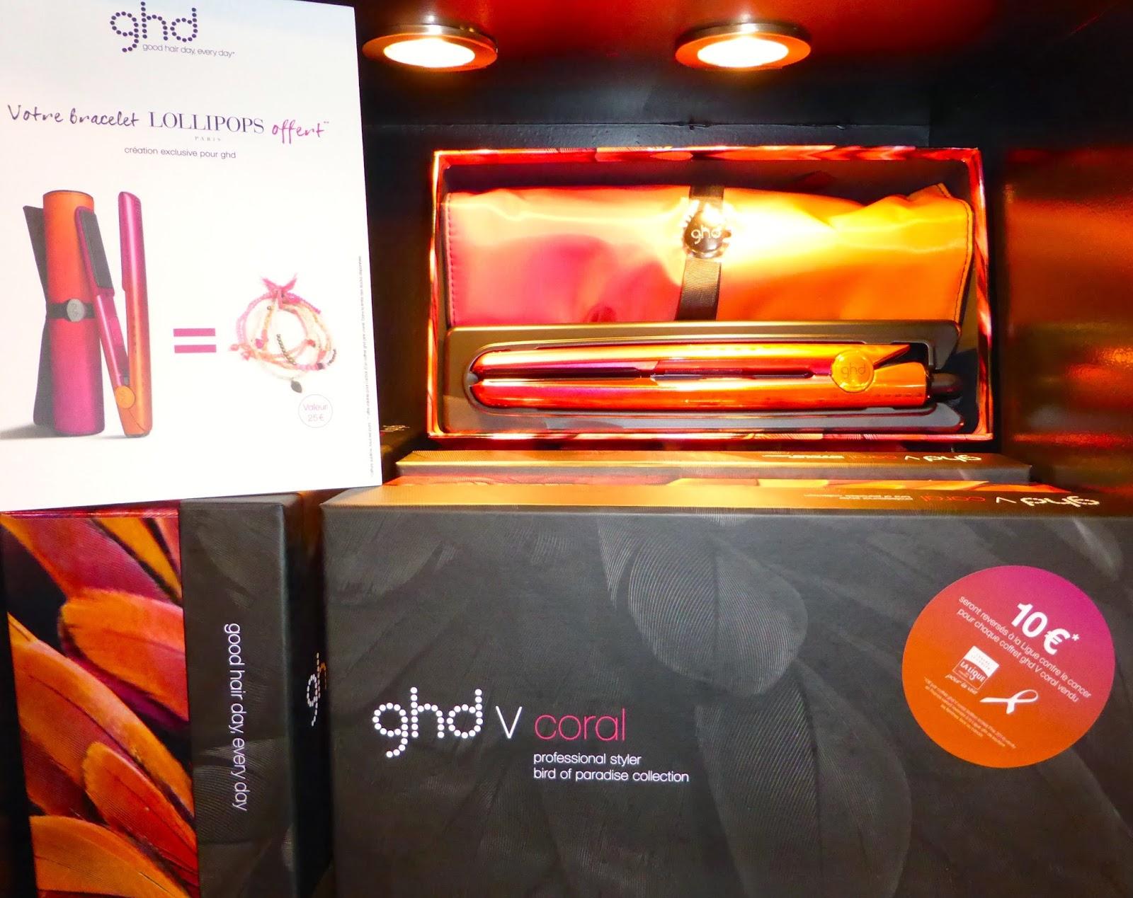 Une édition spéciale du Styler GHD Coral, présent au Studio 54 à Montpellier,  avec une offre comprenant 10 € reversé à la lutte contre le cancer du sein ainsi qu'un bracelet LOLLIPOPS.