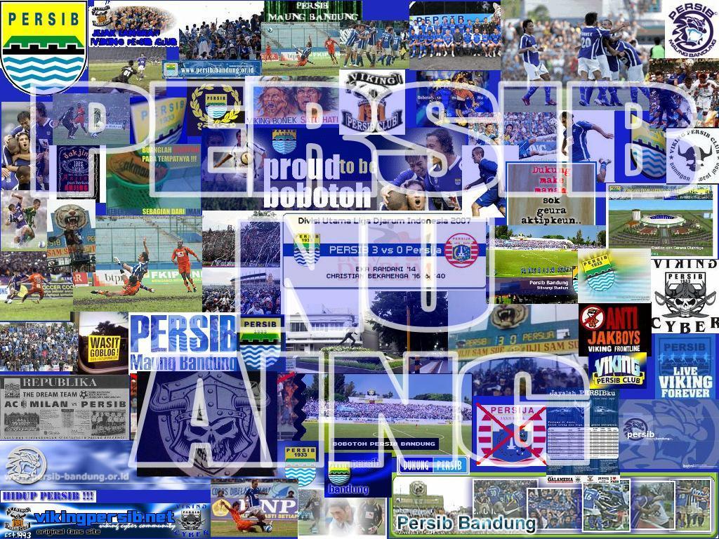 Download image Persib Bandung Dengan Latar Gambar Dari Dan Logo Viking ...