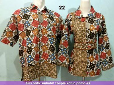 Baju Batik Muslim Couple - TAS CEWEK