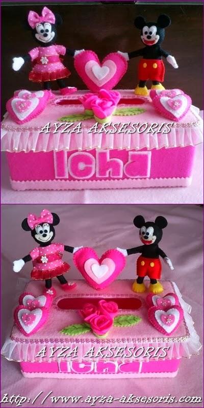 Kotak Tissue Hias Tema Minnie dan Mickey Mouse - Ayza Aksesoris