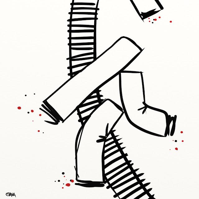 Gava gavavenezia satira vignette illustrazione caricatura fumetto ridere gavagnin marco illustratore disegno  Disastro ferroviario spagna compostela santiago treni botto esplosione morte