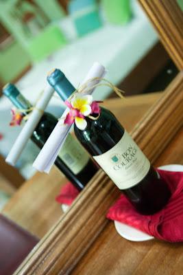 Willkommens-Wein im Patatran Village