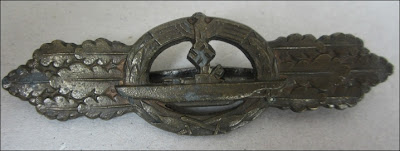 WW2 German Kriegsmarine u-boat clasp in bronze