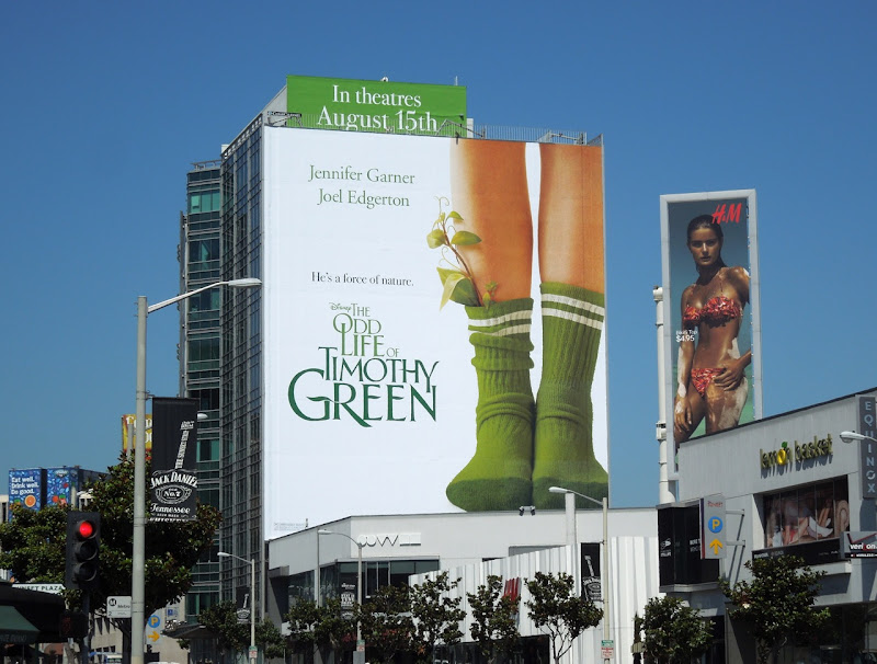 Odd Life Timothy Green giant billboard