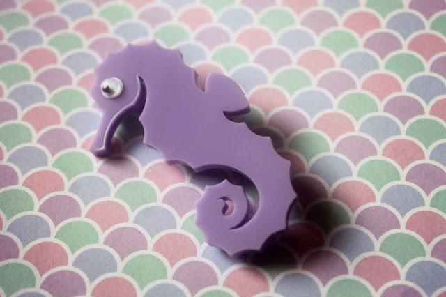 lucky dip mermaid box brooch