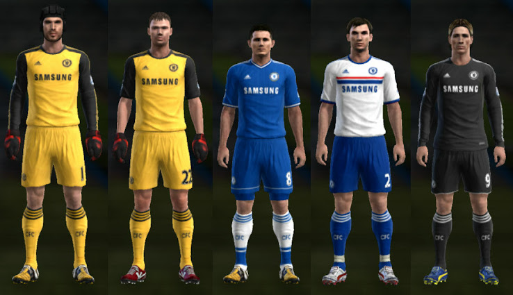 PES 2013 Chelsea 13 14 Kit Set by Cuky