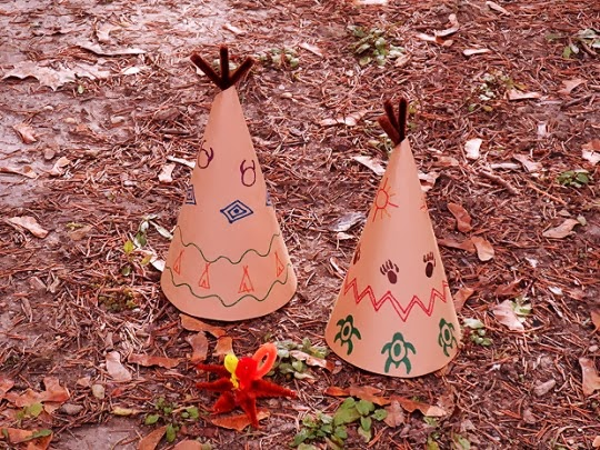 Kids mini Teepee crafts