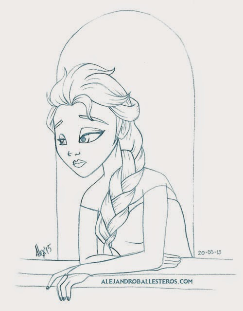 Dibujo de Elsa Frozen Alejandro Ballesteros