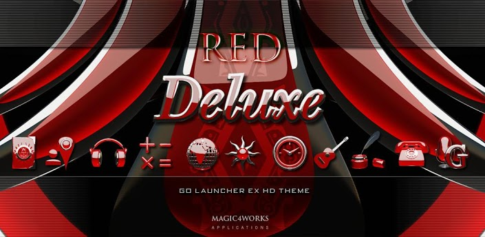 3D RED DELUXE GO theme v1.2
