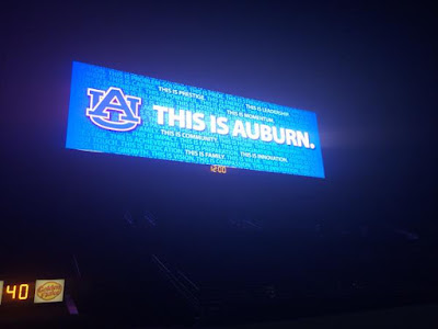 Auburn's Jordan-Hare Stadium record-breaking video board activated for first time.