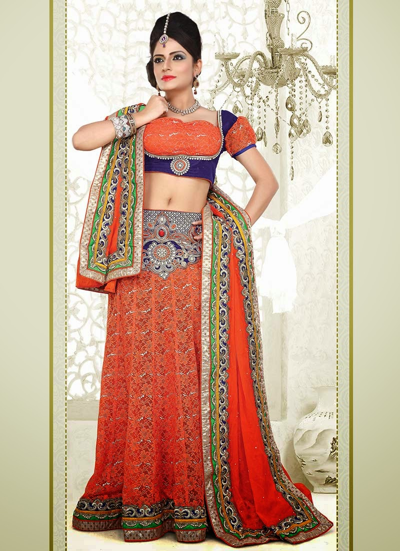 Bridal wedding lahenga choli beautiful indian dresses 2013 for Wedding bridal dresses indian
