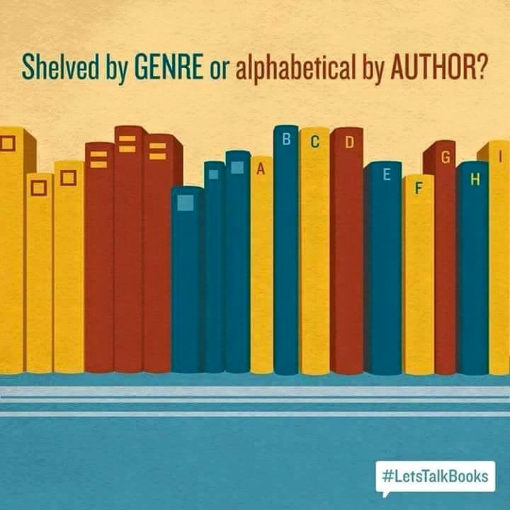 Shelved by GENRE or alphabetical by AUTHOR?