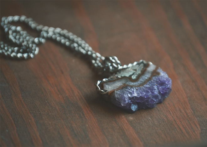 The Flying Clubhouse: Amethyst Necklace