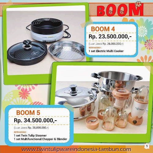 BOOM Twin Tulipware | Maret - April 2014
