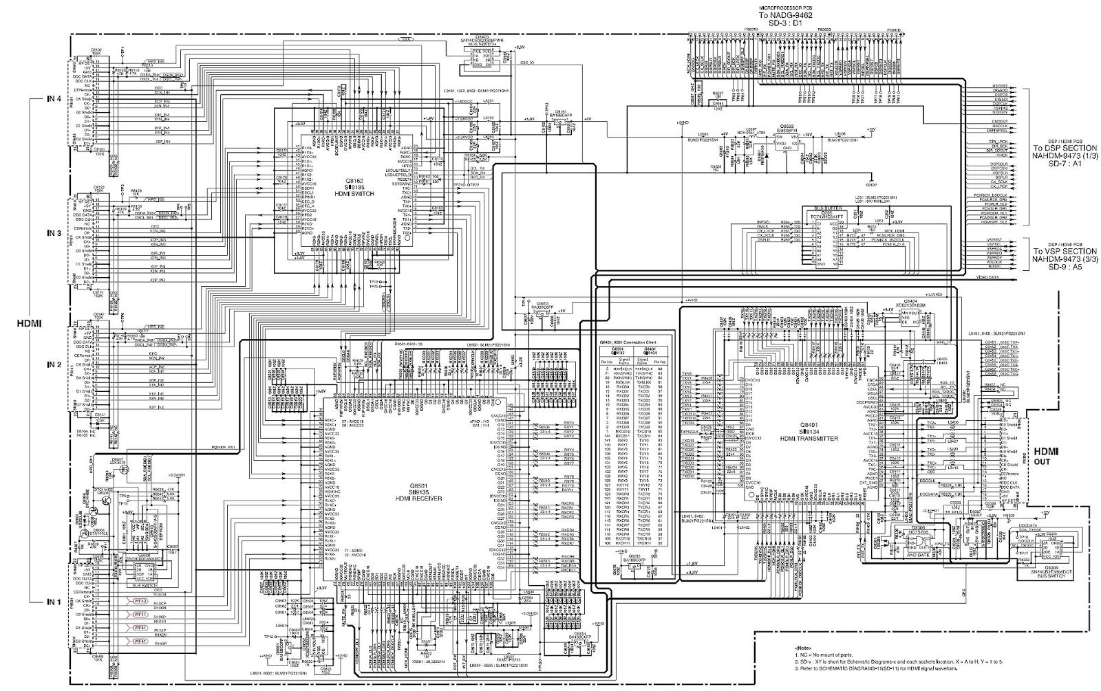 hdmi circuit diagram