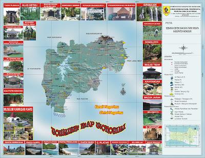 Peta Wisata Kabupaten Wonogiri
