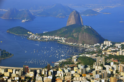 Sugarloaf Mountain seen from Cristo Redentor