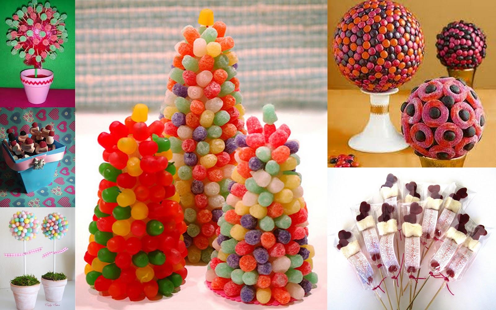 Fiestas con encanto brochetas centros y tartas for Pinchos de gominolas