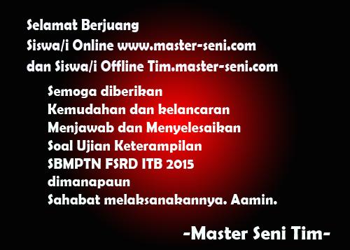 Selamat Berjuang Siswa/i Online www.master-seni.com dan Siswa/i Offline tim.master-seni.com
