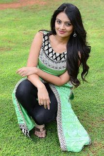 Nikitha Narayan looks beautiful in Green Sleeveless Salwar Kameez