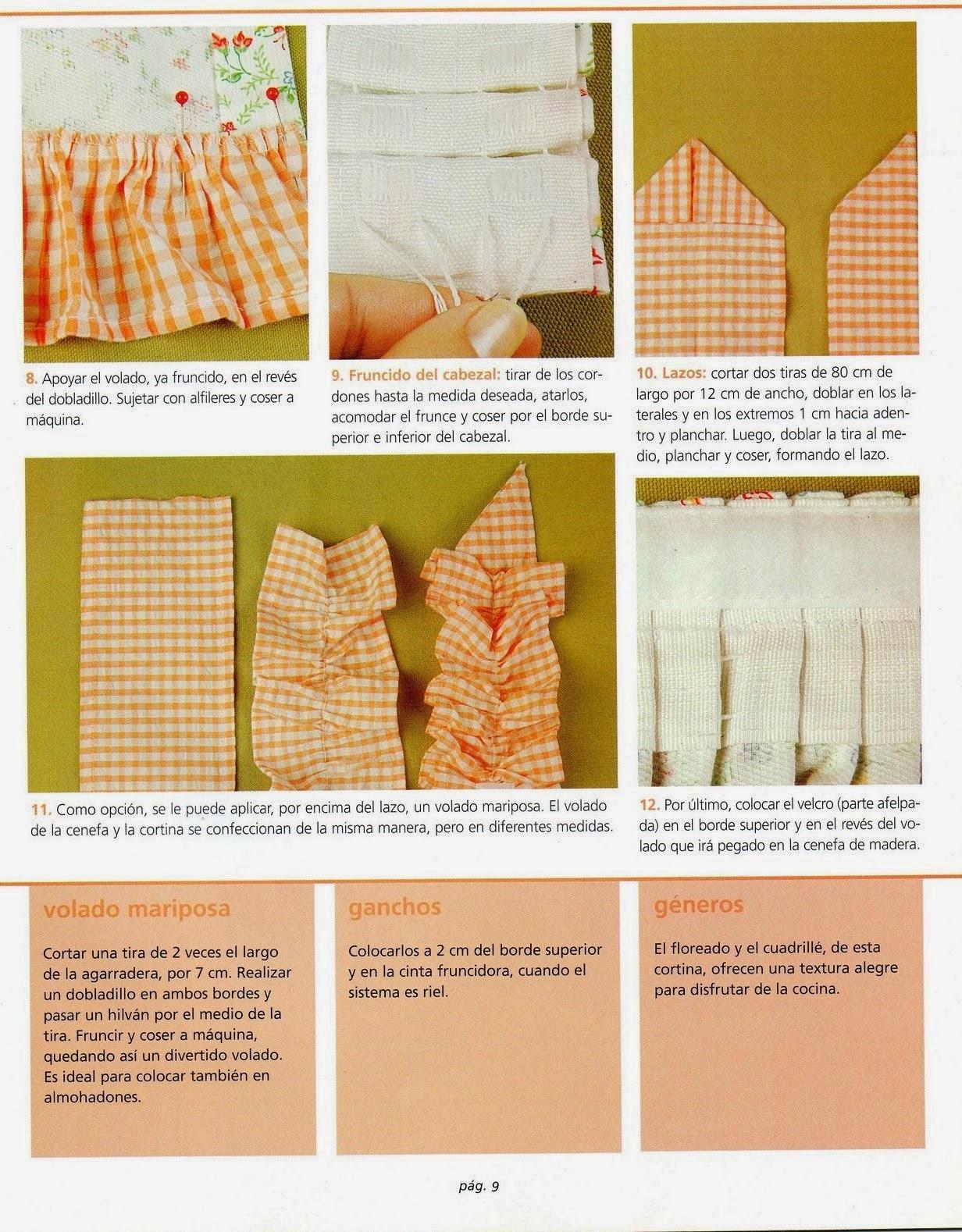 Como hacer cortinas paso a paso revistas de manualidades - Como coser cortinas paso a paso ...