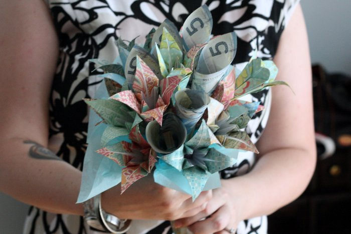 Origami Flowers Made From Money Images - Flower Decoration Ideas