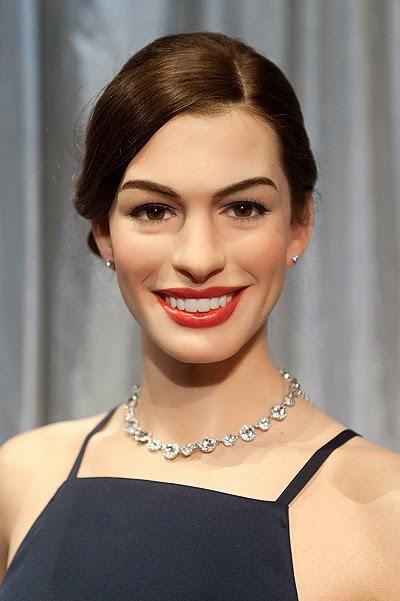 Wax figure of Anne Hathaway
