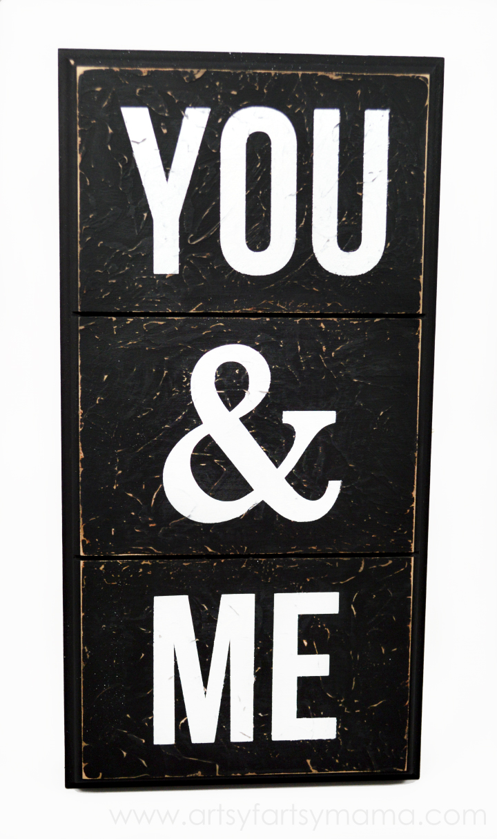You & Me Sign at artsyfartsymama.com