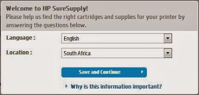 cambio de región a south africa