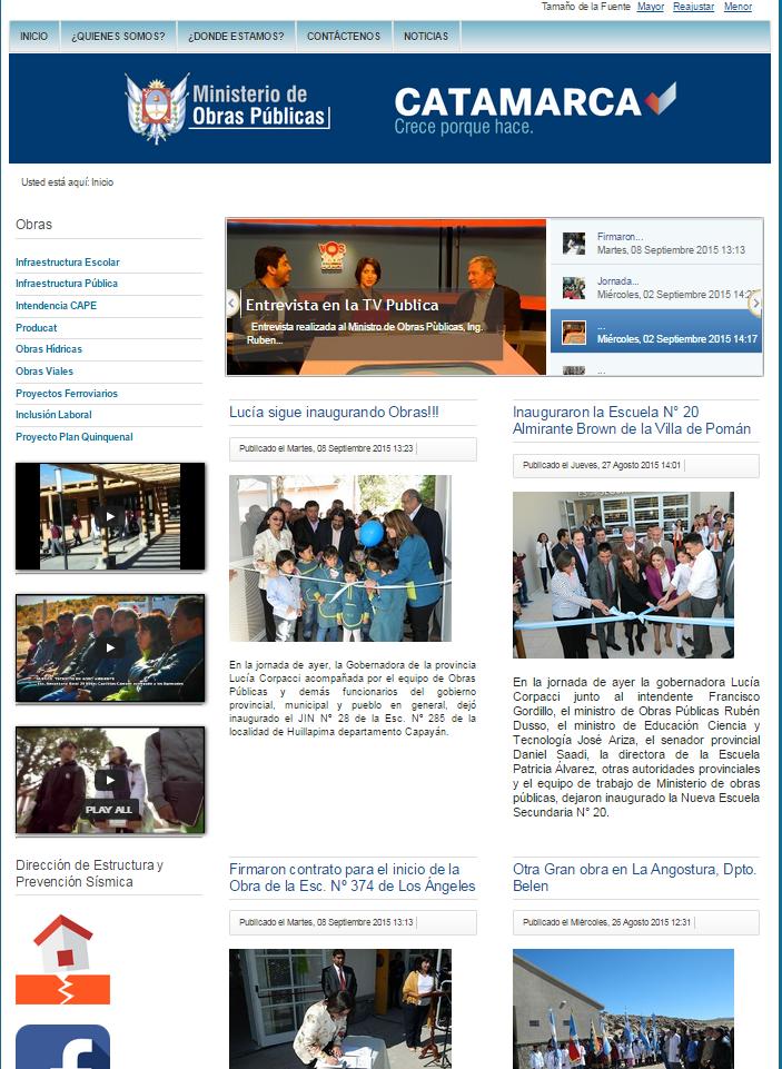 Prevenci n de riesgo s smico en catamarca nuevo link en for La pagina del ministerio