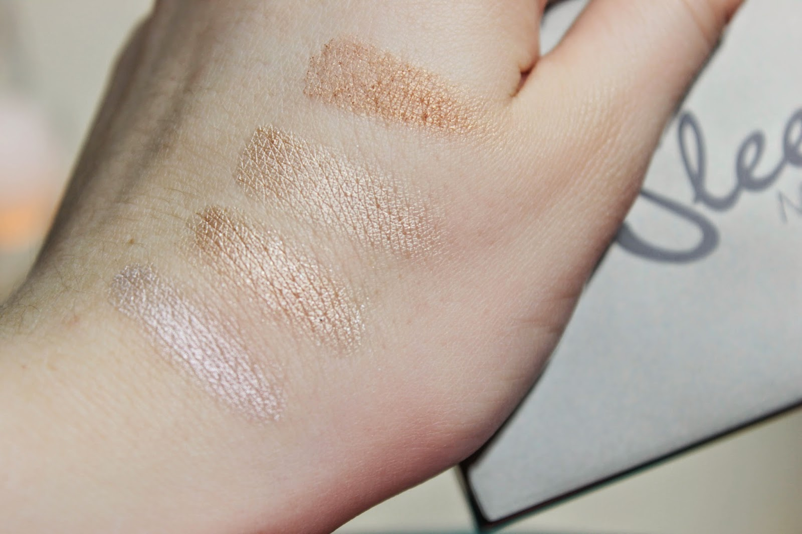 Sleek Precious Metals Cream Highlighting Palette Kit Highlight Swatches