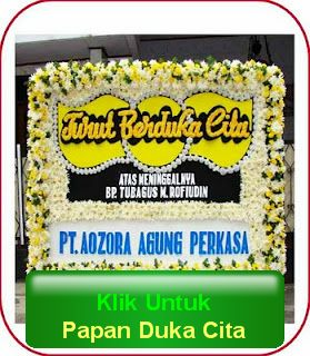 bunga papan duka cita