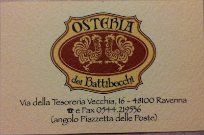 Osteria Battibecchi Business Card
