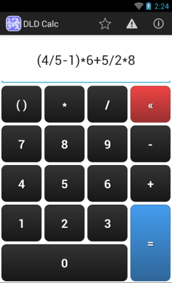 DLD Calc Math Fraction Calculator app for Android