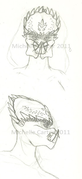 Drawn last weeka couple of concept sketches of a female yautja