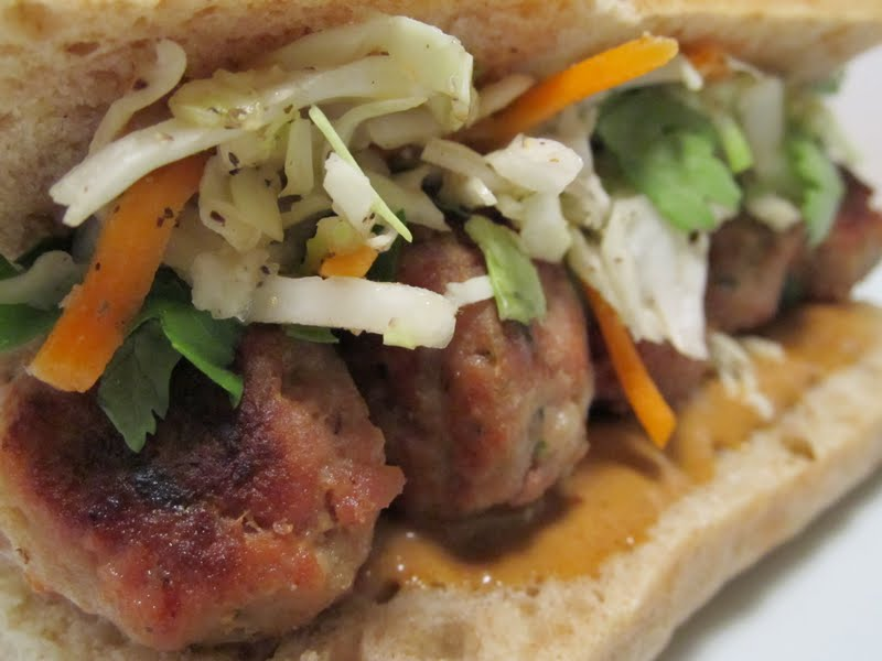 Jenns food journey asian meatball subs with hoisin mayonnaise hands down this is one of the best meals weve had in the last month i saw the original recipe in one of my food network magazines and knew immediately forumfinder Choice Image