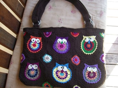 Tangled Tales Owl Tote Em Completed