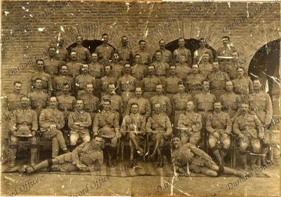 Sergeants of 1st Battalion, Durham Light Infantry, taken at Nowshera, India, 1916 (D/DLI 2/1/268(21))