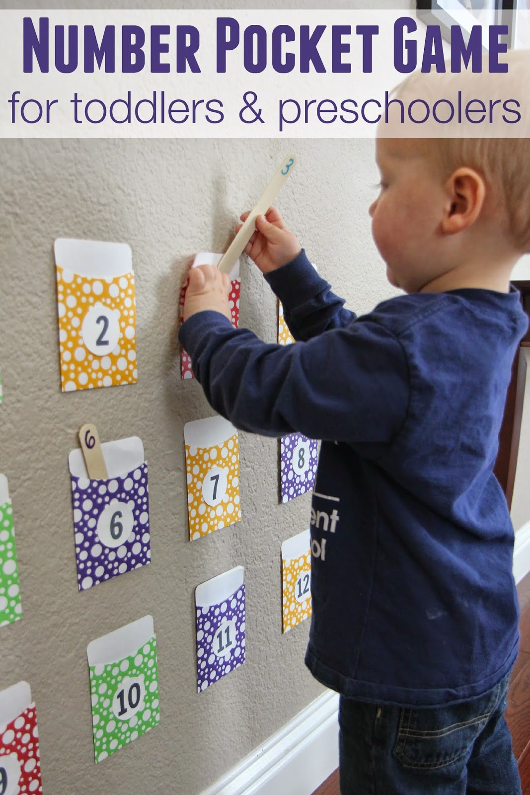 Toddler approved number pocket game for toddlers and for Educational crafts for preschoolers