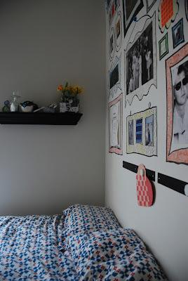hand drawn frames on wall