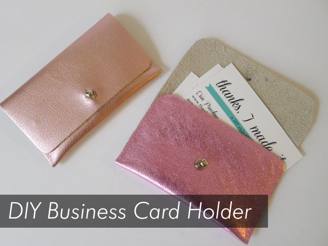 i really cant think of many other do it yourself gifts that say go forth and conquer the world more than a diy business card holder - Diy Business Card Holder