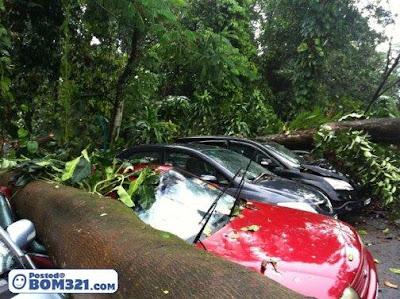 Kejadian Hujan Ribut Parking RHB Jalan Tun Razak 3.2.2011 (Gambar)