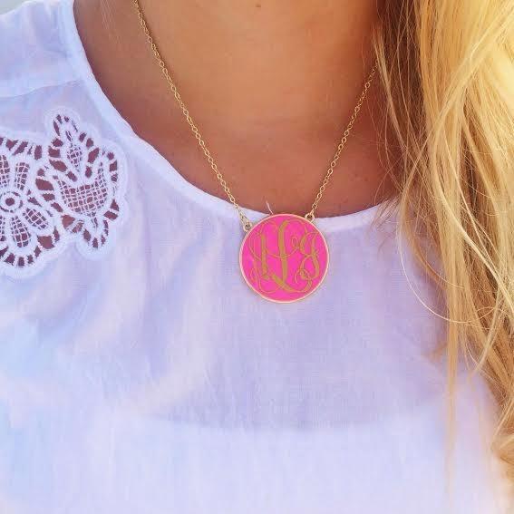 Monogram Necklace Long Island